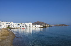 Small gulf in Naoussa village, Paros island, Cyclades, Greece Royalty Free Stock Photo