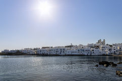 Small gulf in Naoussa village, Paros island, Cyclades, Greece Royalty Free Stock Photography