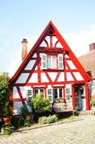 Small half-timbered house in marbach Stock Photo