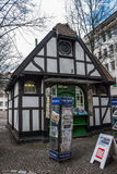 Small half timbered house in Wuppertal Royalty Free Stock Photos