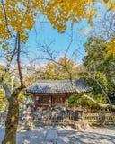 A Small hall at Hasedera Temple in Kamakura Stock Photo