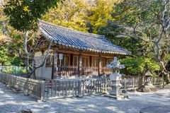 Small Hall of Kotoku-in Temple in Kamakura Royalty Free Stock Photo