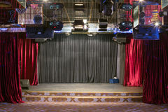 Small hall with a stage Royalty Free Stock Photo