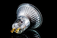 Small halogen lightbulb Stock Images
