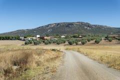 Small hamlet in La Mancha, Spain Stock Photos