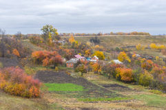 Small hamlet in Ukraine Royalty Free Stock Images