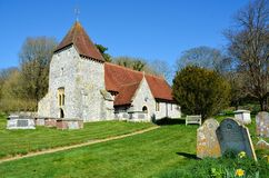 All Saints Church, West Dean, East Sussex.UK. The small hamlet of West Dean in East Sussex has a small church dedicated to All Saints. also the most ancient in royalty free stock photo