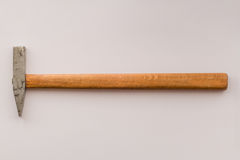 Small hammer with wooden handle Stock Photo