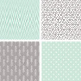 Small Hand Drawn Seamless Pattern Set Stock Photo