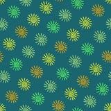 Small hand drawn suns.  Seamless vector pattern. Royalty Free Stock Photos