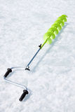 Small hand operated ice auger Royalty Free Stock Photos