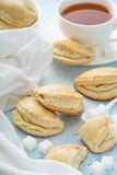Small hand pies with cottage cheese filling Stock Images