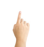 Small hand simulating. Showing something Royalty Free Stock Photography