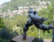 Small handcrafted statue. In a little town in italy lecco stock photos