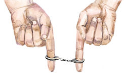 Small handcuff Stock Image