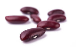 A small handful of red beans - Kidney. Royalty Free Stock Photo