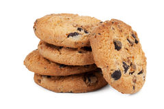 Small handful of shortbread with chocolate Royalty Free Stock Photos