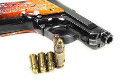 Small handgun 6.35 mm. Royalty Free Stock Images