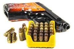 Small handgun 6.35 mm. Royalty Free Stock Photo