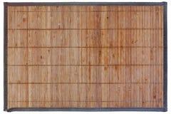 Small handmade bamboo rug for sushi Royalty Free Stock Photography