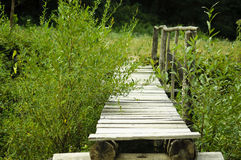 Small handmade bridge Royalty Free Stock Image