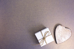Small handmade gift boxes Royalty Free Stock Photo