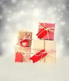 Small Handmade gift boxes Stock Photo