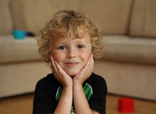Small handsome boy Stock Images