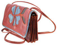 Small Handy leather woman bag Stock Image