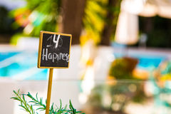 Small happiness sign Stock Photos