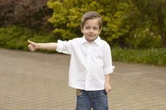 Small  happy boy Royalty Free Stock Image