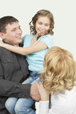 Small happy family Royalty Free Stock Photo