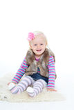 Small happy girl Royalty Free Stock Photos