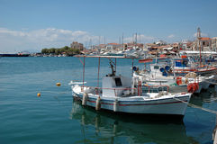 Small harbor. At Aegina island, Greece royalty free stock photos
