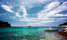 Small harbor. Boat harbor in greece island Royalty Free Stock Photography