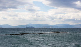 Small harbor at Aegina island Royalty Free Stock Images
