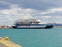 Small harbor at Aegina island Royalty Free Stock Image