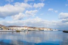 Small harbor around Otaru city Royalty Free Stock Photo