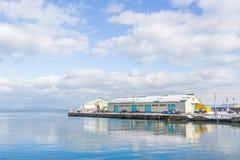 Small harbor around Otaru city Stock Images