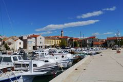 The small harbor in Betina in Croatia Royalty Free Stock Photo
