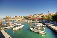 Small harbor, Byblos lebanon Royalty Free Stock Photography