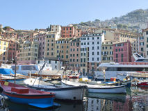 Small harbor in Camogli, Stock Images