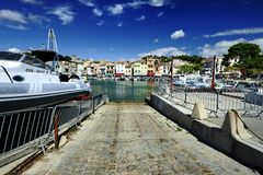 The small harbor of Cassis Royalty Free Stock Image