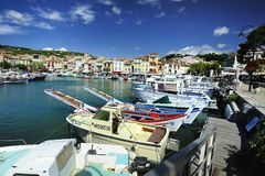 The small harbor of Cassis Royalty Free Stock Photography