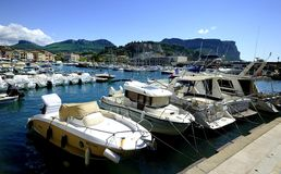 The small harbor of Cassis Royalty Free Stock Images
