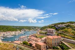 Small harbor in the city of France. royalty free stock photography
