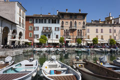 The small harbor of desenzano Stock Photo