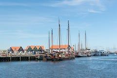 Small harbor Dutch island Texel Stock Photos