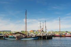 Small harbor Dutch island Texel. Small harbor in Oudeschild at Dutch wadden island Texel royalty free stock photos