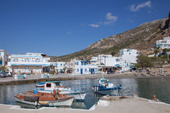 Small harbor of Finiki on Karpathos, Greece Stock Photo